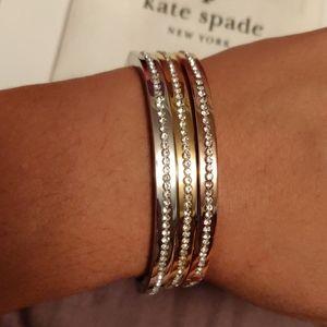 BNWT Kate Spade Bangles (silver, rose gold, gold)
